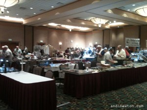 A shot of the dealer's room at the 2011 Raleigh Pen Show