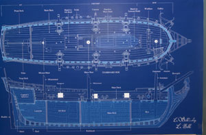 Blueprint of a ship